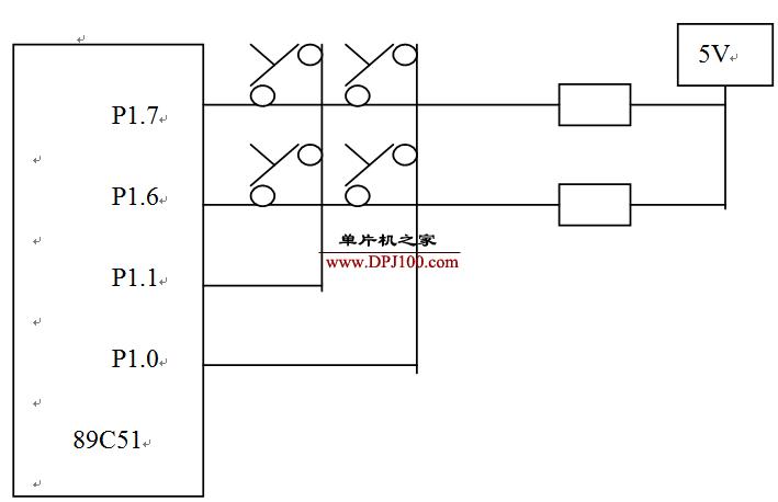 2×2行列式键盘电路设计并编写键盘扫描子程序实例