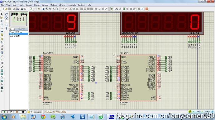 AVR单片机(学习ing)―(十)、ATMEGA16的同步串行接口SPI―03