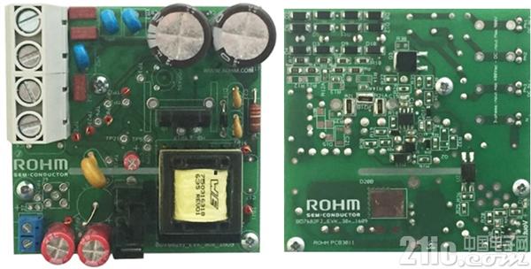 图4. 使用了SiC-MOSFET的辅助电源单元用评估板