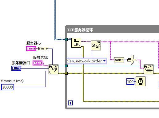 labview 建立TCp连接时的错误处理