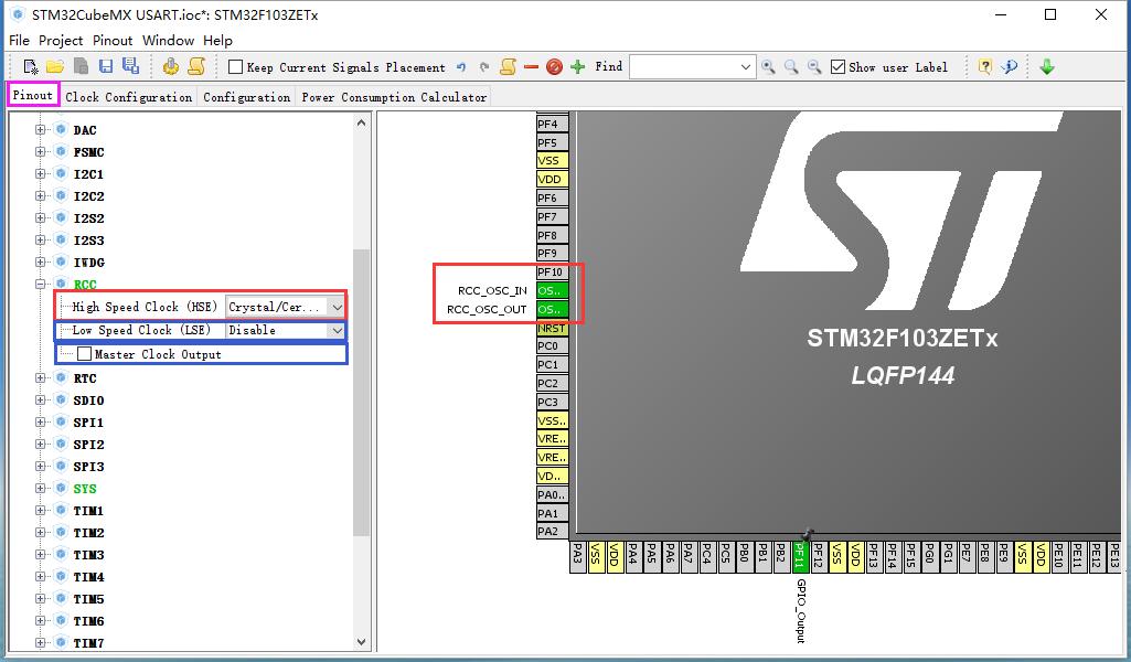 STM32CubeMX软件工程描述_USART配置过程