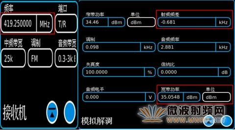 利用3550数字无线电综合测试仪检测无线电发射设备