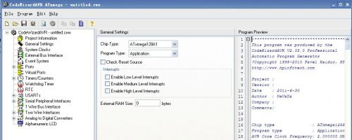 XMEGA128学习笔记2-CVAVR编译环境