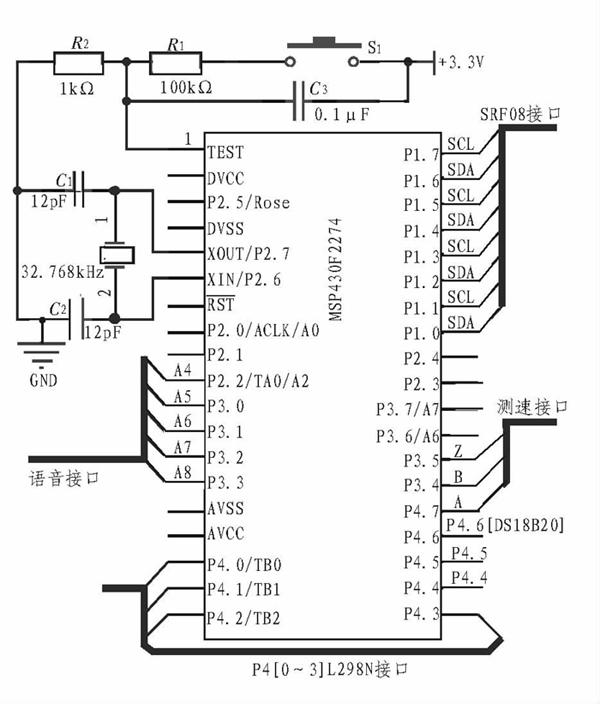 基于MSP430单片机的智能小车设计