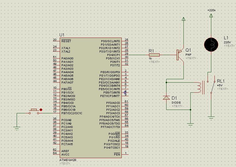avr单片机proteus仿真第四课:控制继电器