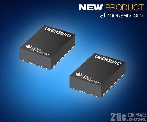 TI LMZM3360x电源模块在贸泽开售 在小型封装内集成36V降压转换器和电源电路