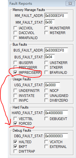 Cortex-M3/4的Hard Fault调试方法