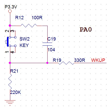 关于STM32单片机GPIO口上拉与下拉输入
