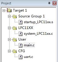 cortex m0 lpc1114 串口uart查询收发数据