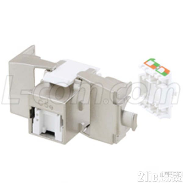 L-com推出符合PoE+标准的免工具RJ45插座新产品