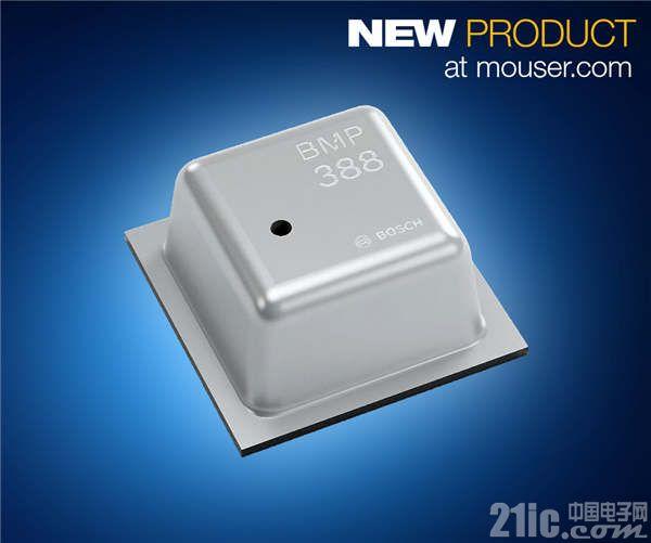Bosch低功耗BMP388数字气压传感器在贸泽开售  专为无人机和AR/VR应用提供