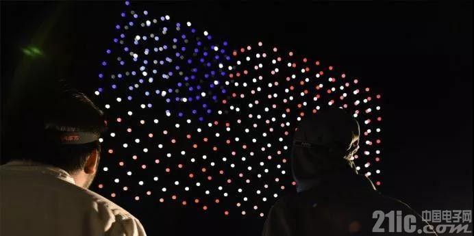 英特尔上演无人机灯光秀庆祝美国独立日