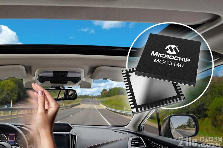 Microchip汽车级3D手势识别控制器系统避免因驾驶员处理其他任务而分神