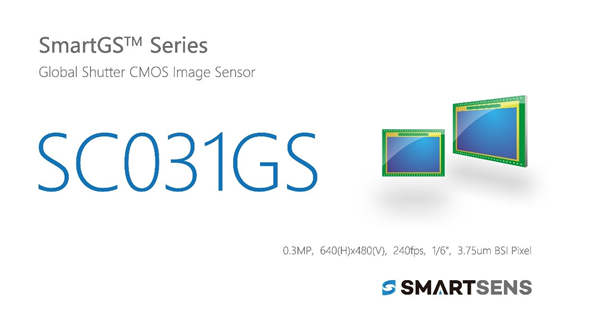 思特威SmartSens发布全球首款30万像素BSI全局快门CMOS图像传感器SC031GS