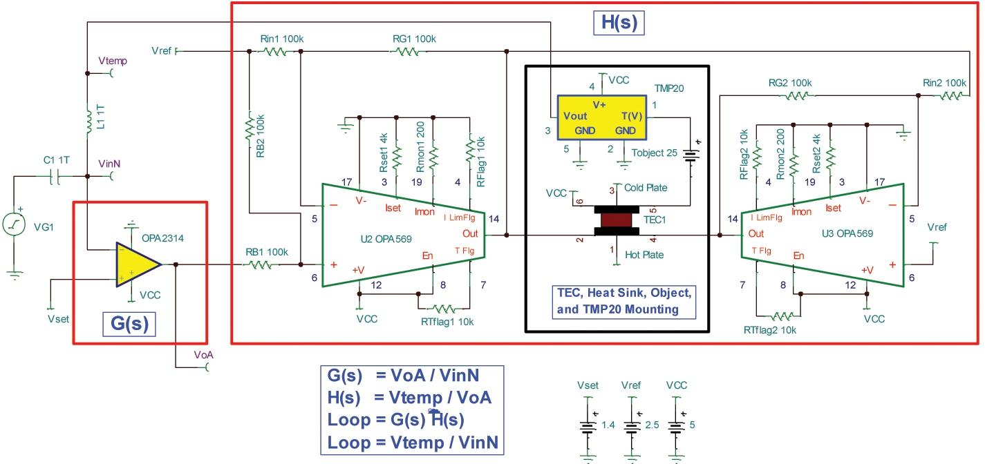 利用SPICE设计TEC温度环路PID控制