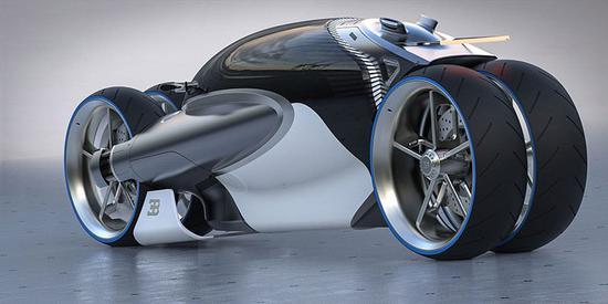 看完笑了!布加迪公布100M四轮概念摩托车