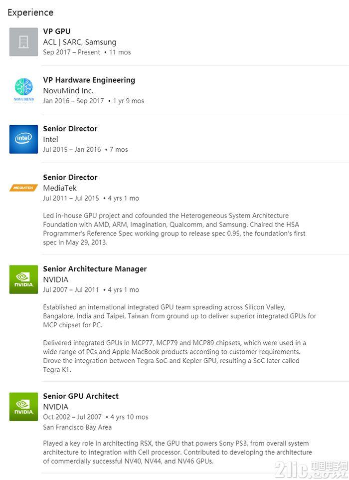 三星聘Nvidia老将吕坚平负责领导GPU研发团队