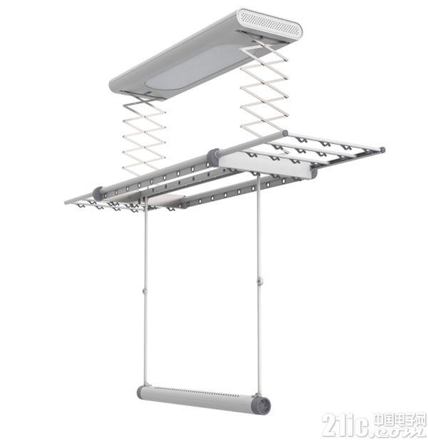 小米众筹邦先生智能晾衣机:支持一键升降 持续暖风烘干