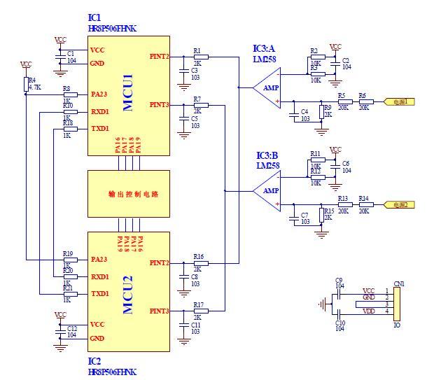 图 1:双 MCU 热备份原理图