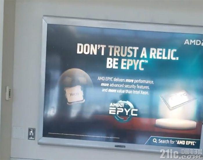 AMD机场广告黑英特尔:Xeon处理器就像?#33267;?#19968;样曾经统治地球
