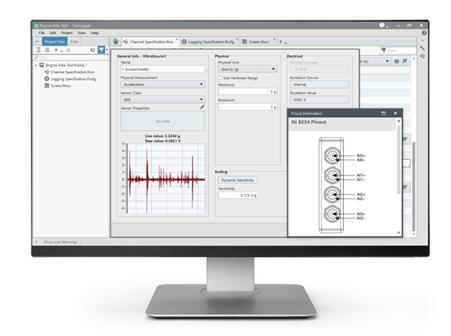 图3. FlexLogger可帮助汽车测试部门快速捕获准确且记录完整的数据,无需编程即可获得关键信息。