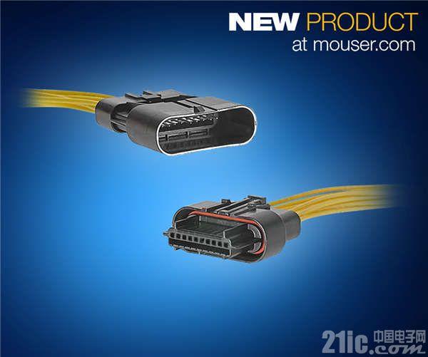 贸泽开售Molex Squba密封式线对线连接器  为空间受限应用提供可靠电源