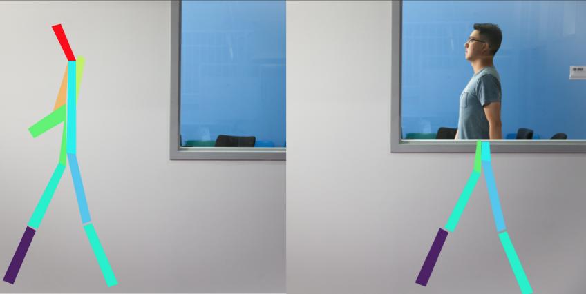 穿墙眼?MIT研发全新射频―姿态探测系统 可隔墙看到人移动的骨骼状图像