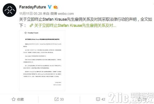 贾跃亭旗下电动汽车初创FF遭前CFO起诉,被指条约违法