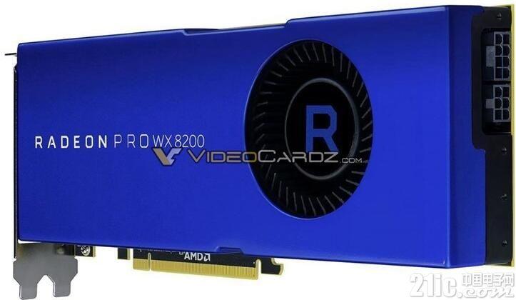 AMD Radeon PRO WX 8200专业显卡真机图曝光!