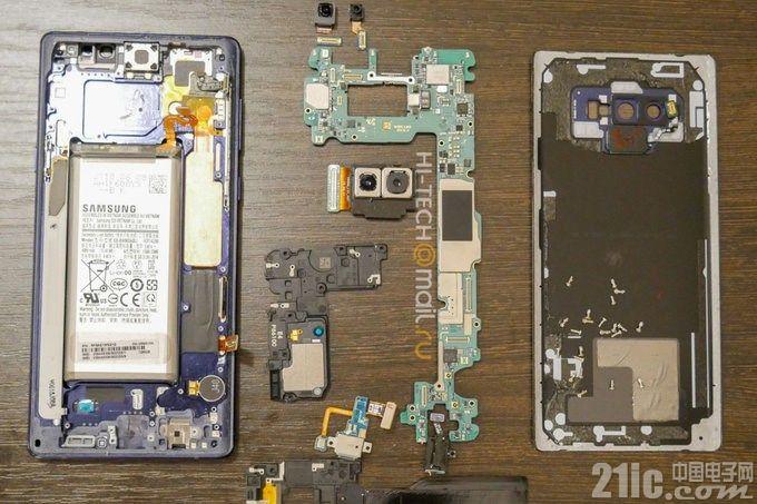三星Galaxy Note 9已被拆解!快来围观!