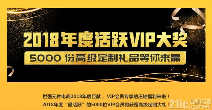 年度活跃VIP活动持续发力 世强元件电商年底奖励送不停