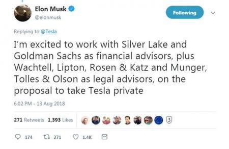 马斯克为何想要私有化特斯拉?看这里