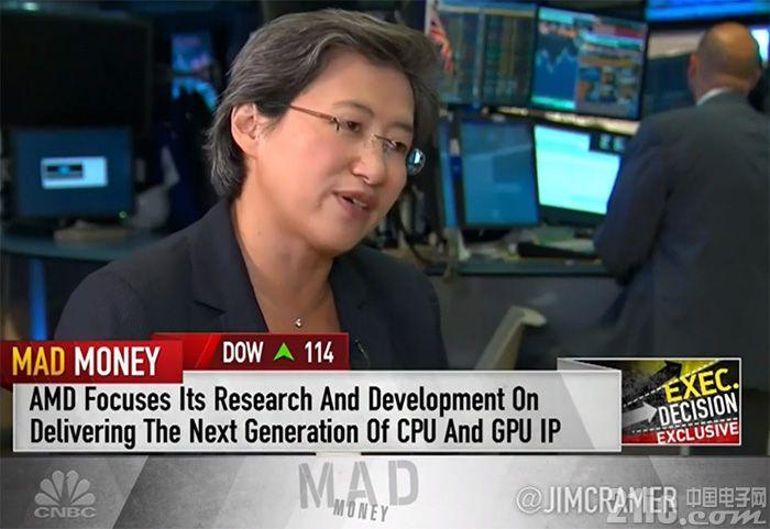 AMD CEO:我们的成功从来不依靠Intel的失利