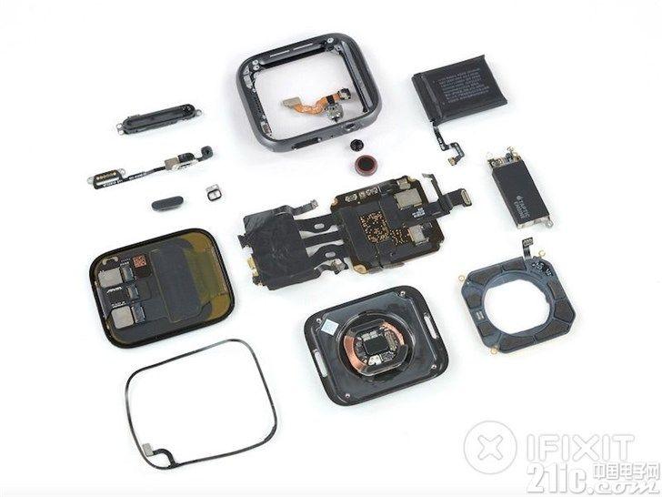 苹果Apple Watch Series 4拆解图曝光!