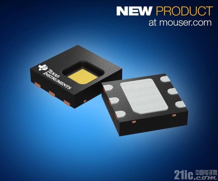 TI HDC2080数字温湿传感器在贸泽开售  让智能设备精度更高、功耗更低