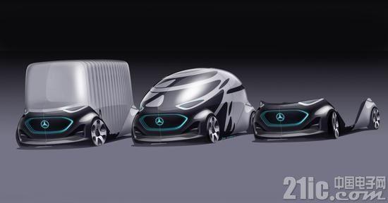 无人车还不够酷?奔驰推出全电动可变形无人驾驶汽车!