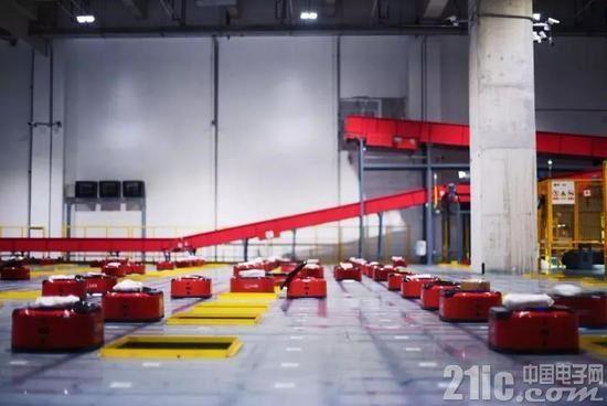 真正的物流自动化?京东自动化仓库有7个足球场大,只有四名员工