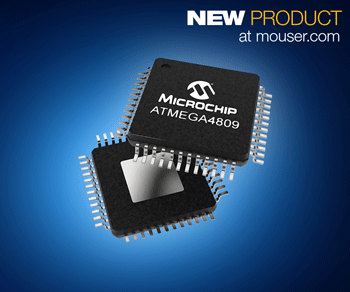 Microchip ATmega4809 8位MCU在贸泽开售  为高响应命令与控制应用提供支持