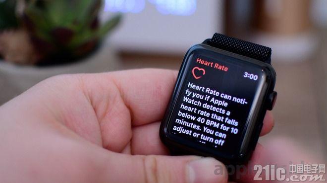 旧款Apple Watch也能支持低心率监测功能,只需升级watchOS5!
