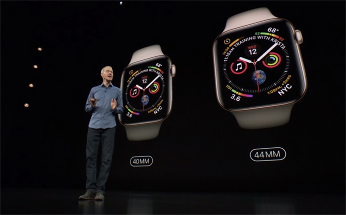 还是Apple Watch 4更新给力!屏幕增大30+%、新增ECG心电图