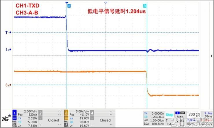 图4发送低电平信号延时