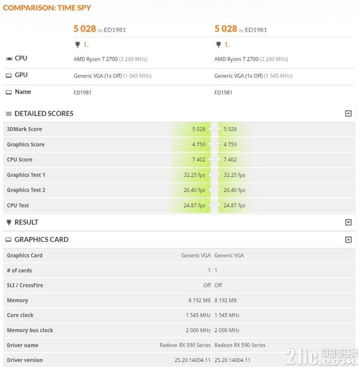 AMD RX 590现身数据库?比RX 480提升约10%