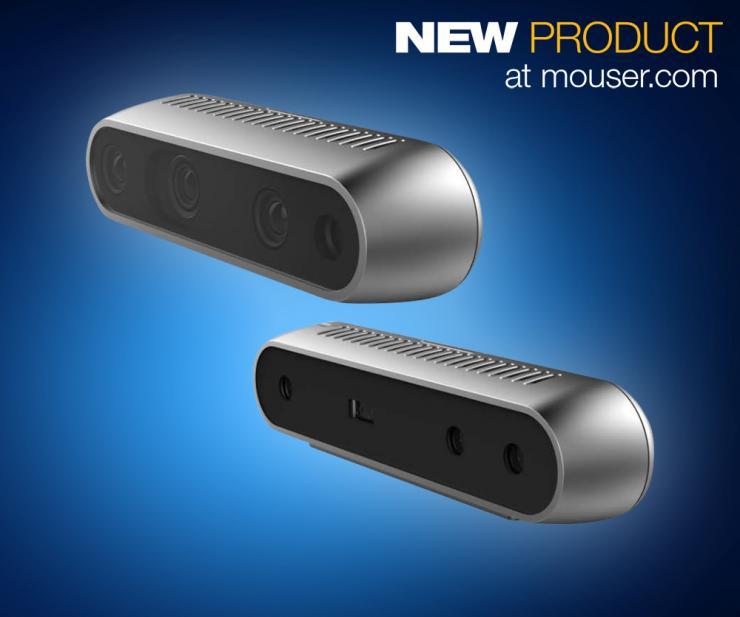 贸泽开售英特尔实感D400系列深度感测摄像头  让您以 3D 方式观察世界
