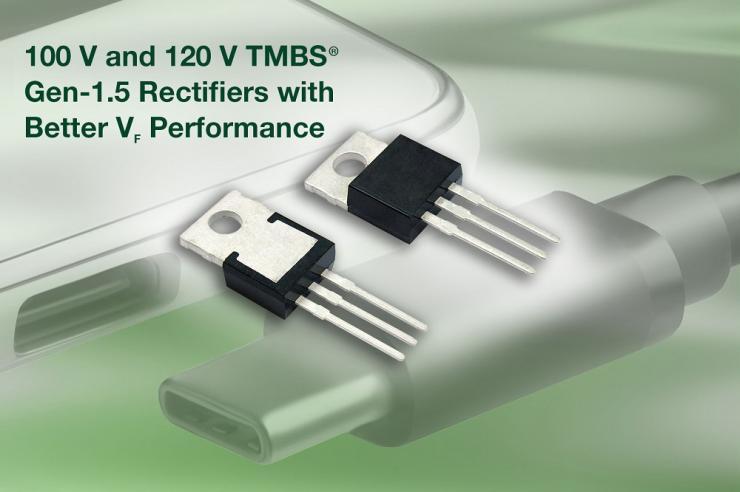 Vishay全推出四款全新100 V和120 V TMBS Trench MOS整流器,降低功率损耗并提高效率