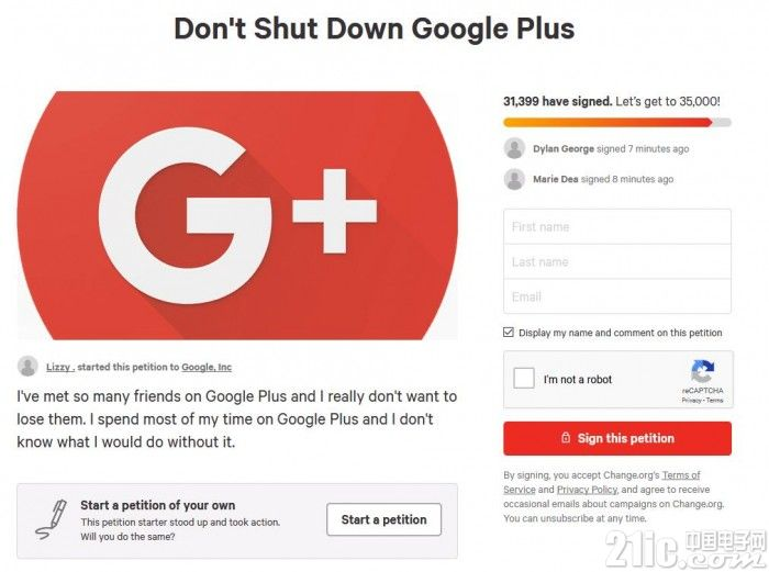 超3万人请愿,要求谷歌延长Google+的生命线