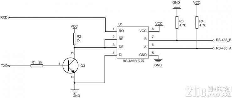 图1RS-485自动收发示意图