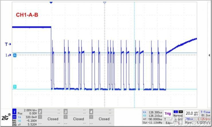 图9受高结电容影响的波形