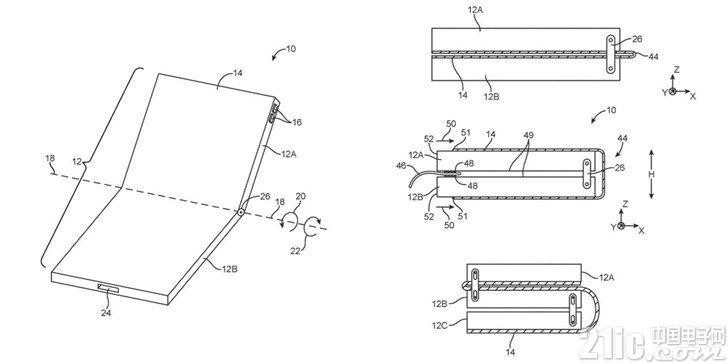 苹果也要推可折叠设备!又获得一项跟可折叠iPhone相关的专利