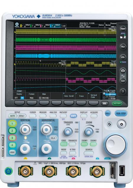 横河发布新一代混合信号示波器DLM3000,超越四通道限制