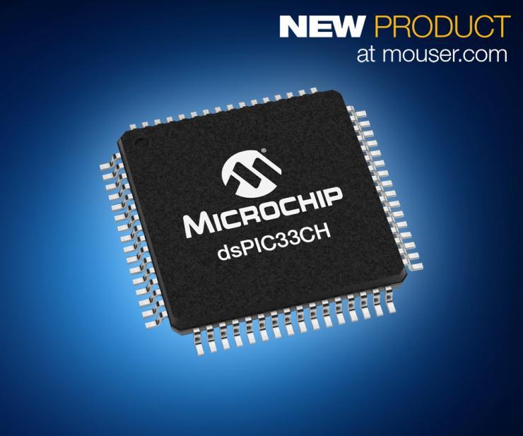 Microchip dsPIC33CH双核数字信号控制器在贸泽开售   高性能电机控制应用的理想之选